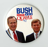 button,  Name: Quayle, Dan, Bush, George W.,  Date: 1990s from National Museum of American History ... See More