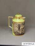 Royal Vienna porcelain coffee pot and cover (part of a service)