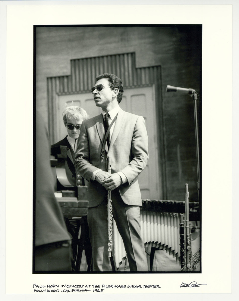 Paul Horn in concert at the Pilgrimage Outdoor Theater, Hollywood, CA. 1965