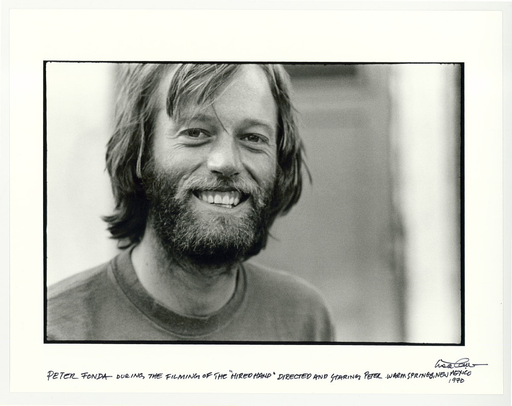 """Peter Fonda during the filming of """"The Hired Hand."""""""