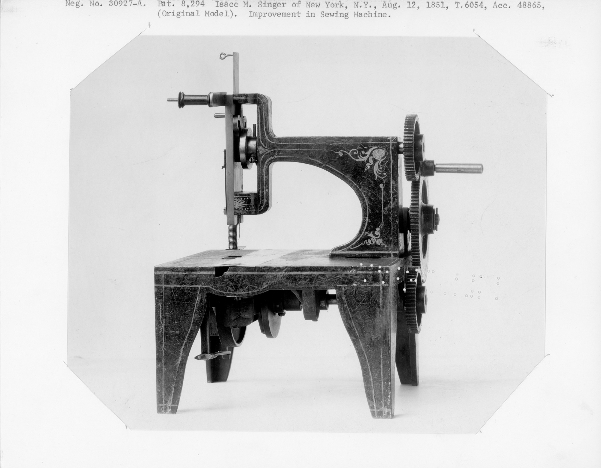 1851 Singer's Sewing Machine Patent Model   National Museum