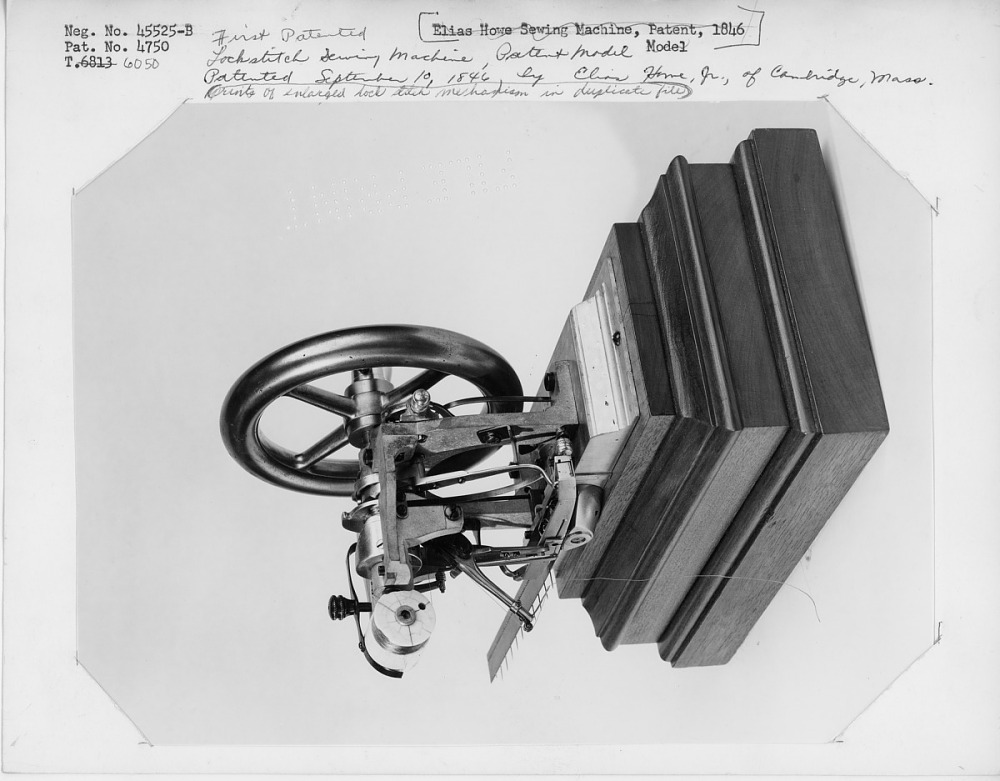 1846 Howe Jr 's Sewing Machine Patent Model | National