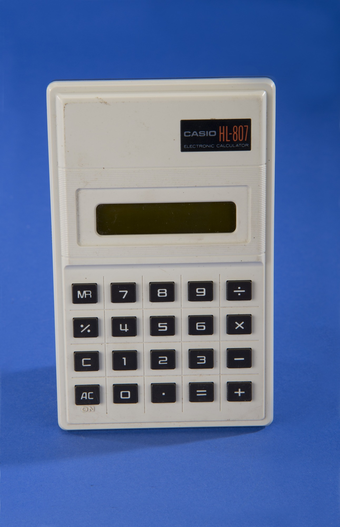 casio hl 807 handheld electronic calculator national museum of description