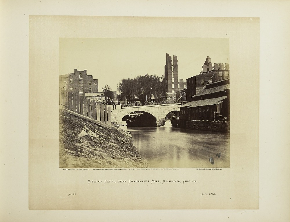 Plate 92  View on Canal, Near Haxall & Crenshaw's Mill