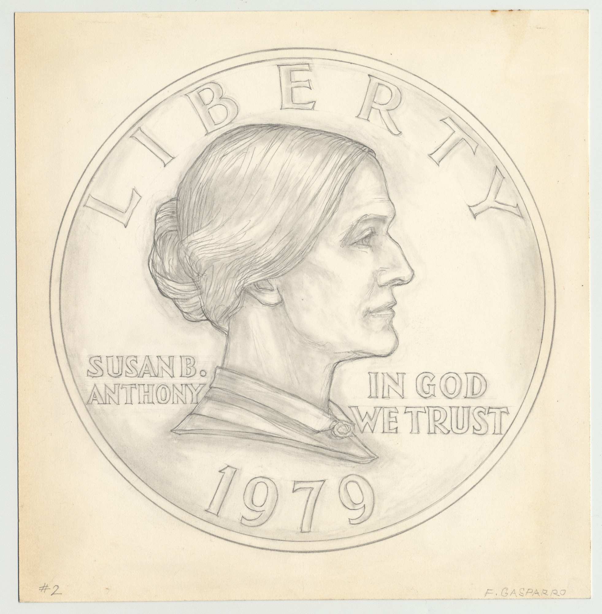 Graphite Drawing of Proposed Design for the Young Susan B