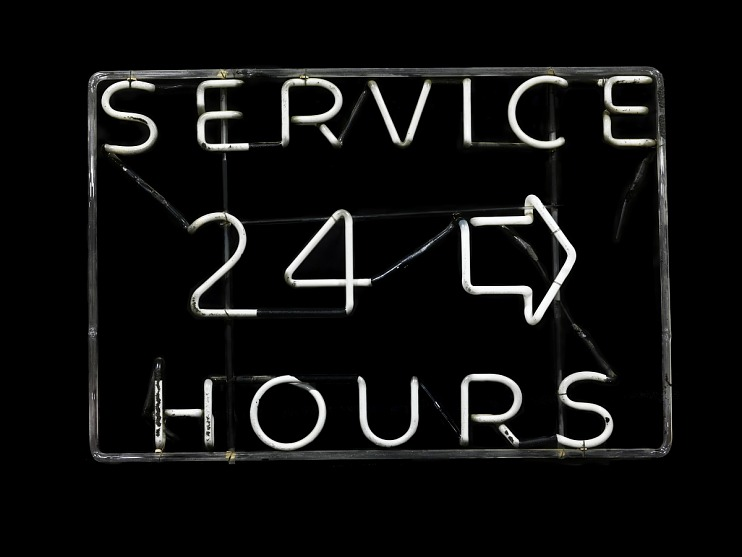 24 Hours Service Neon Sign