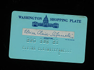 Washington Shopping Plate Credit Card
