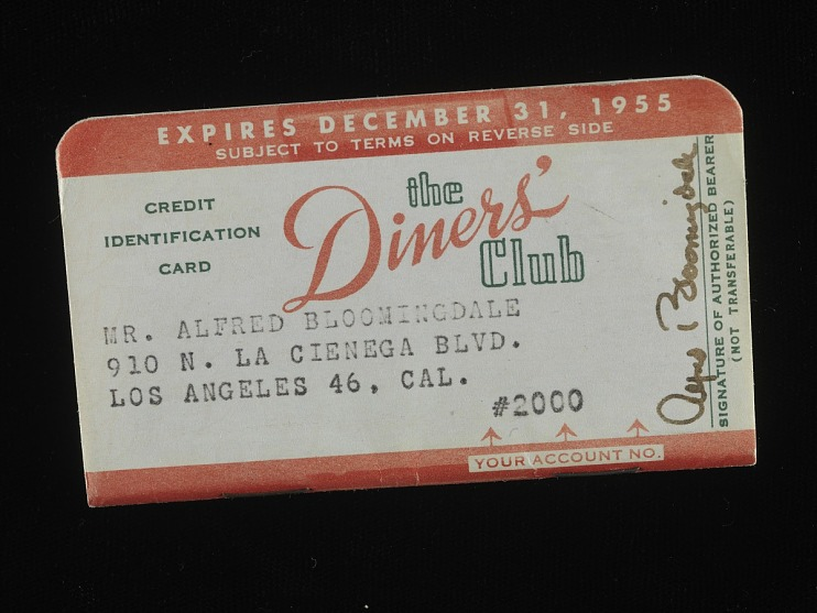 Diners' Club Credit Card, United States, 1955