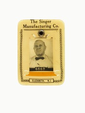 Singer Manufacturing ID Badge