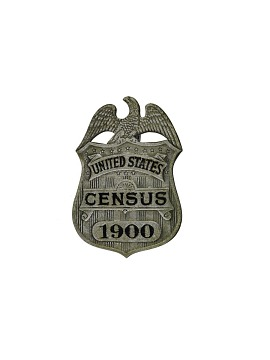 Census Badge, 1900