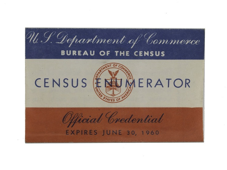 Census Enumerator Badge, 1960