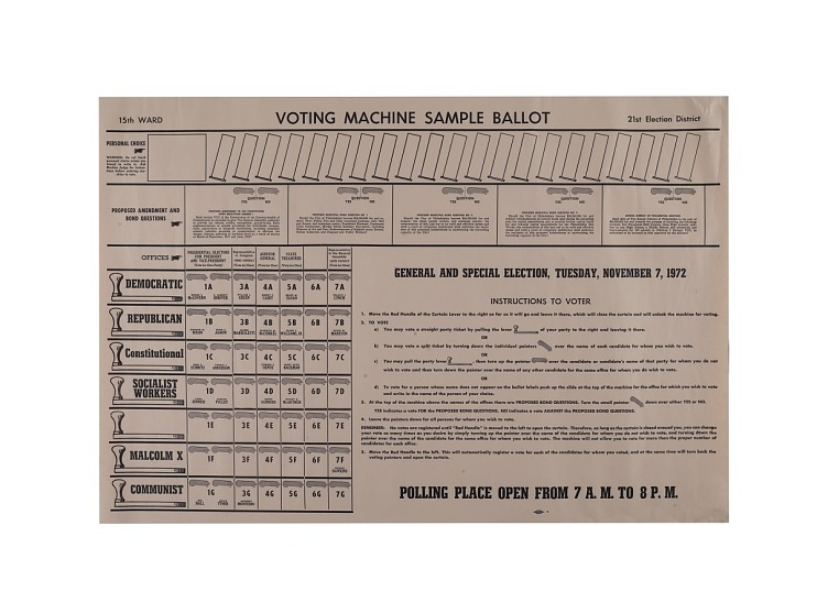 Voting Machine Sample Ballot