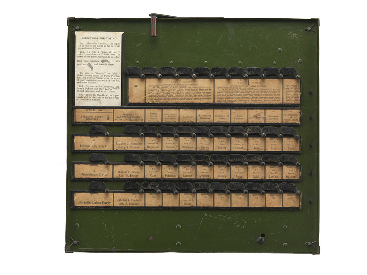 Instructional Voting Machine, 1944