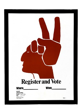 "Poster, ""Register and Vote"", 1972"