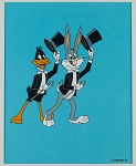 Animation cel of Bugs Bunny and Daffy Duck