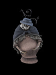 Aunt Everglot stop action figure from Corpse Bride