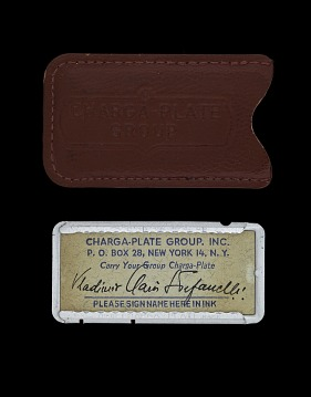 Charga-Plate in Red Leather Case, United States, 1950's