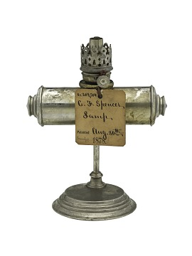 C. F. Spencer Kerosene Lamp Patent Model