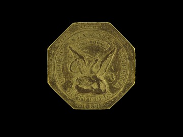 Octagonal 50 Dollar Gold Slug, 1851