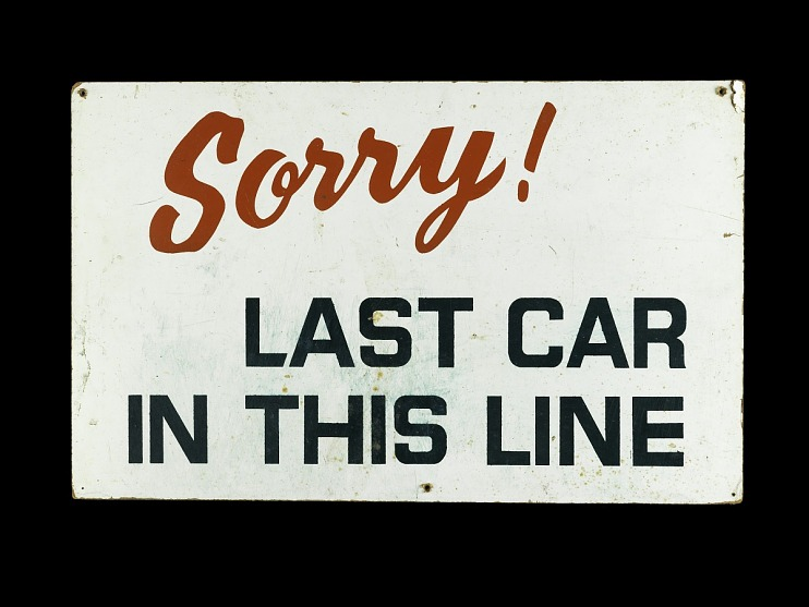 Gasoline Shortage Sign, 1973