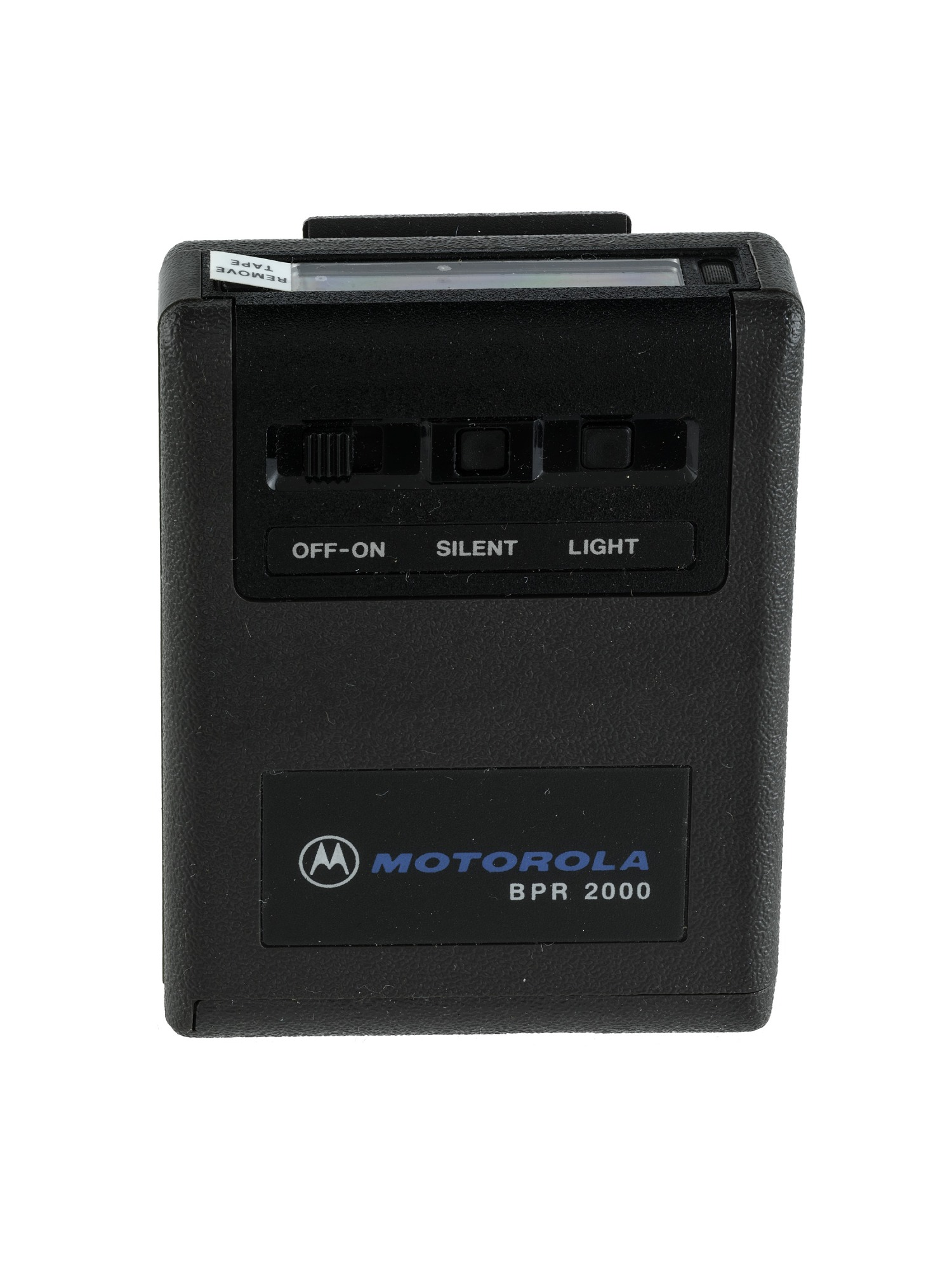 Black Motorola produced this BPR 2000 model pager around 1982.