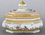 Meissen chinoiserie sugar box and cover