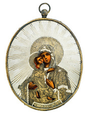 Virgin of Vladimir Icon Pendant