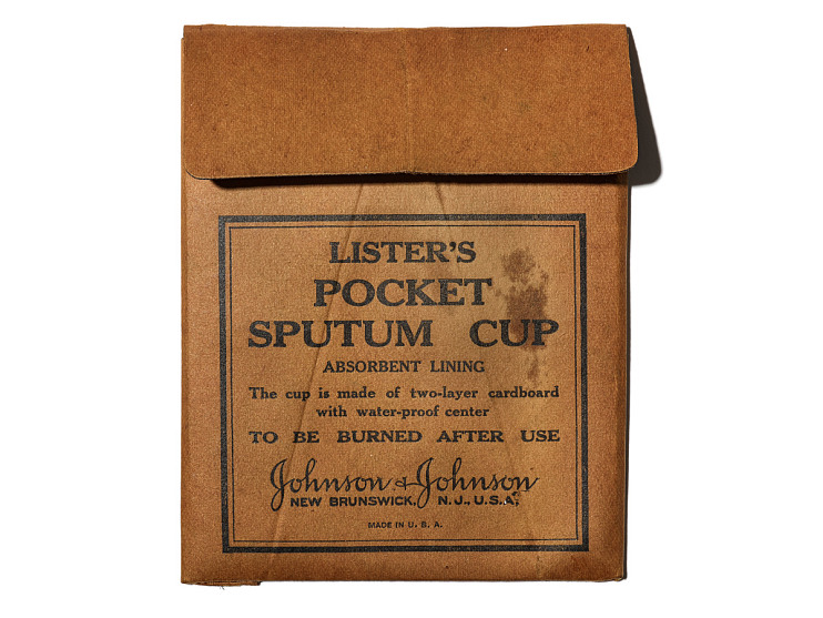 Paper sputum cup, about 1900