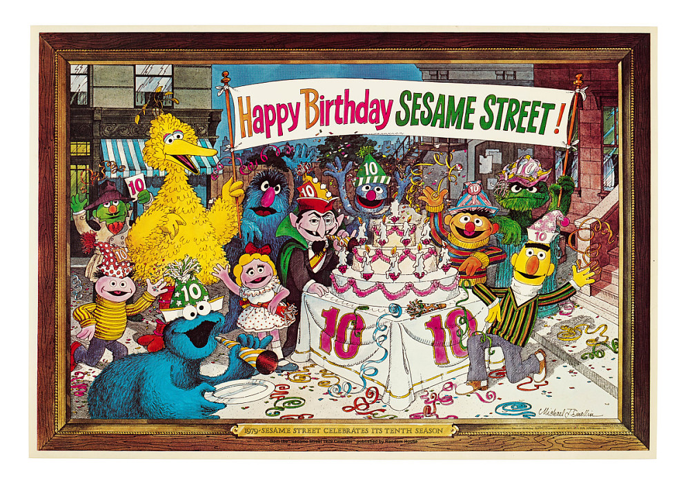 Sesame Street 10th Birthday Poster | National Museum of