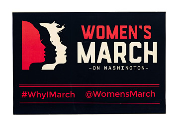 Women's March on Washington poster, 2017