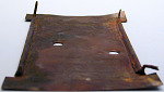Copper sheet with holes and lugs