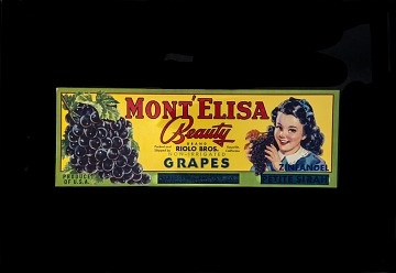 Grape Crate Label, Mont'Elisa