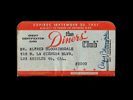 Diners' Club Credit Card, United States, 1957