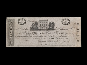 5 Dollar Farmers and Mechanics Bank Note, 1816