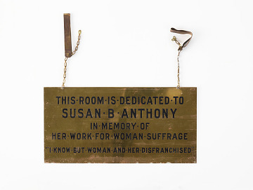 Brass sign from the Susan B. Anthony at NAWSA headquarters