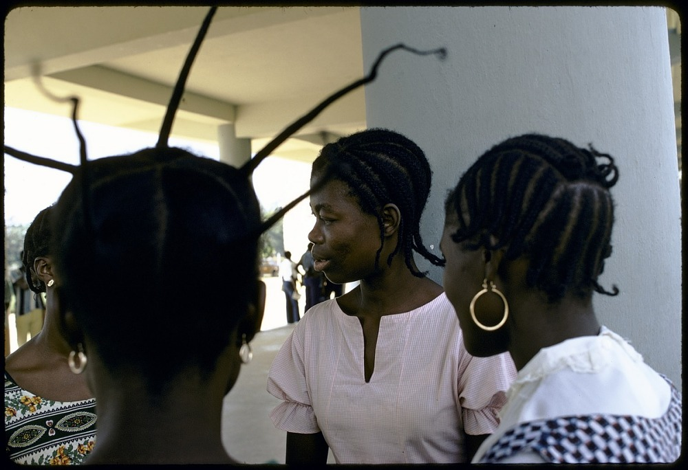 Students with elaborate hairstyles, Congo (Democratic Republic)