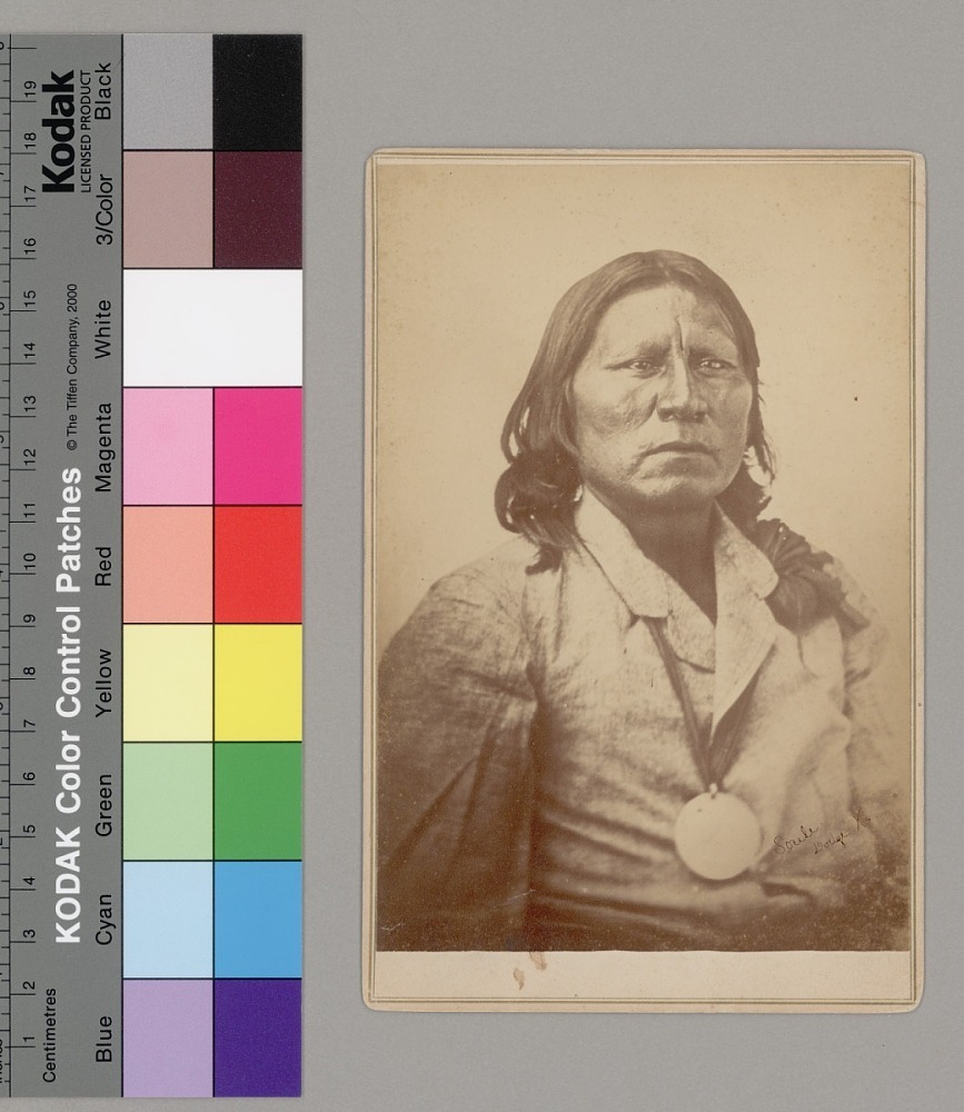 Portrait of Chief Satanta (White Bear) Wearing Peace Medal 1870