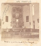 Interior of Adobe Church Showing Altar, Religious Statues, Stations of the Cross, and Communion Rail; San Miguel Church n.d