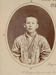 Portrait (Front) of Man, 16 Years Old, from Tashkent Region, Russian Turkestan, (Now Uzbek SSR), in Costume 1917