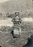 Young Woman in Costume and with Headgear and Cigar ? 1902