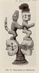 ABB15 Headgear, Wood:Paint:Fiber:Double-Headed:Human? Faces:Animal and Human Figures:from Nigeria n.d