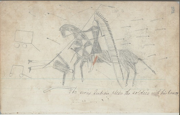Ledger book of drawings, probably Lakota and Cheyenne - contents · SOVA