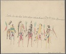 Book of drawings by anonymous Cheyenne prisoner at Fort Marion, ca. 1875-1878