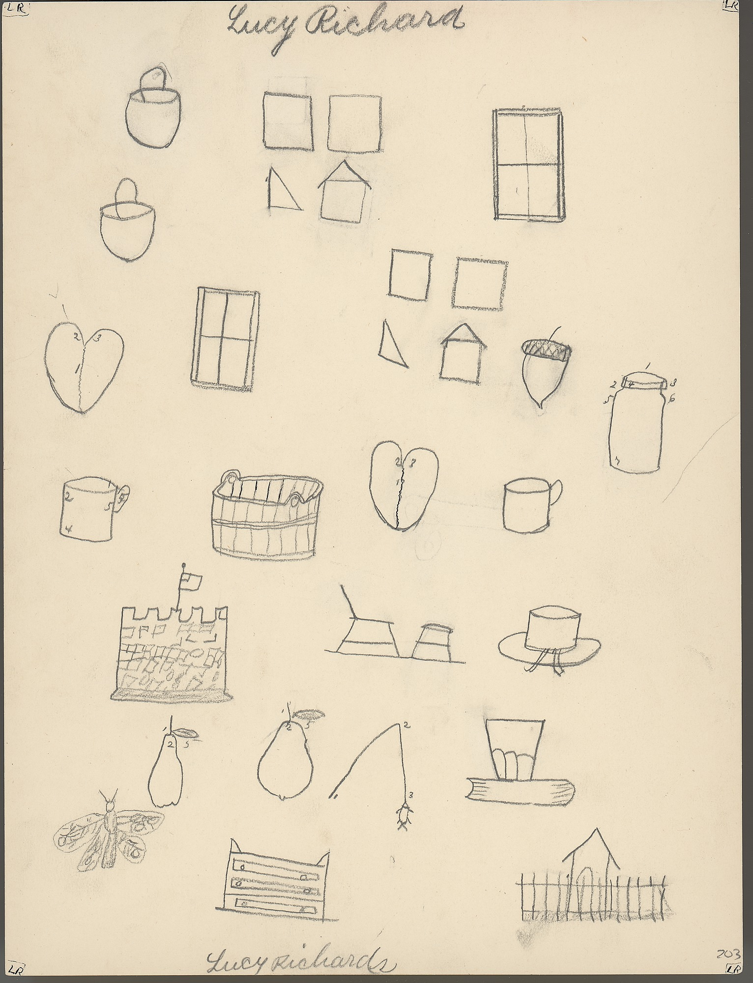 Search Everything Smithsonian Learning Lab Odyssey Ups Circuit Diagram Drawings By Lakota Students At Pine Ridge Agency School Ca 1893