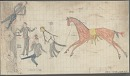 Four drawings by anonymous Cheyenne artist, before 1876