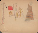 Kiowa drawings by Silver Horn and anonymous artists, ca. 1904