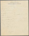 Truman Michelson notes on Cheyenne grammar and stems, undated