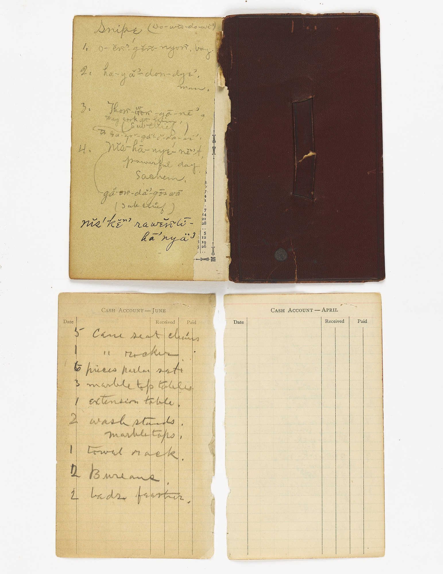 Notes 1916