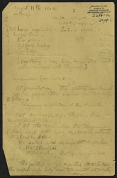 Truman Michelson notes on Cheyenne and Sutaio, 1913 August 11-15