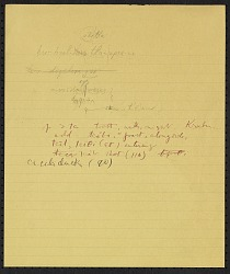 Truman Michelson notes on Arapaho phonetic shifts, undated